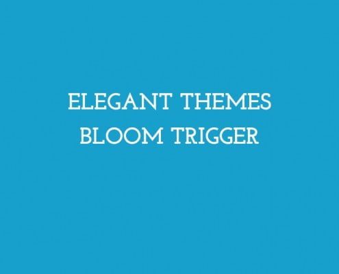 Elegant Themes Bloom Trigger