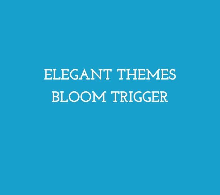 Elegant Themes Bloom Trigger
